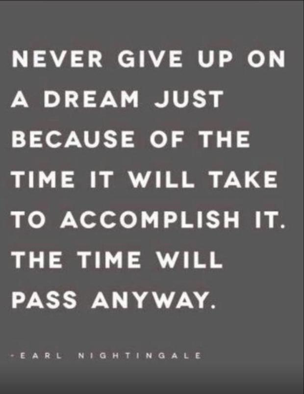 a dream is just a wish goal quote never give up quote