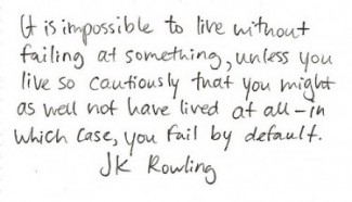jk rowling quote on failure
