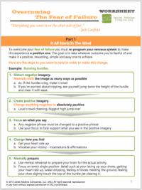 overcome fear of failure coaching worksheet