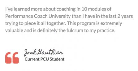 performance coach university testimonials